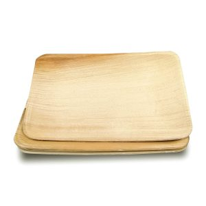 Dtocs Palm Leaf Plates - Rectangle 6X9 Inch