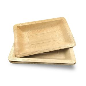 Dtocs Palm Leaf Plates - Rectangle
