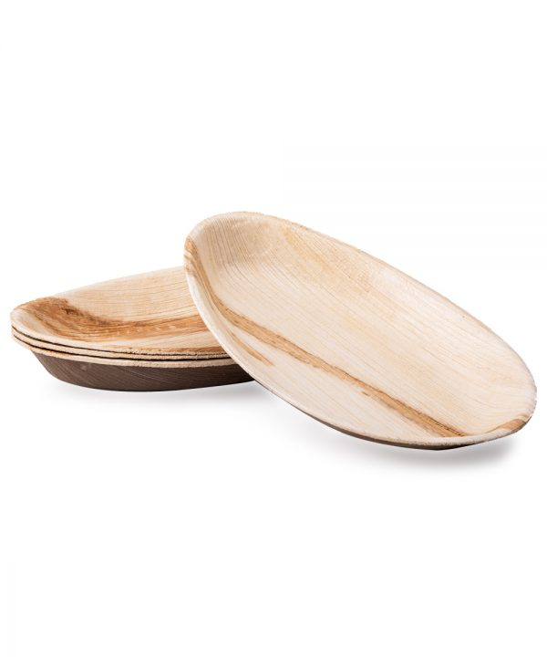 Dtocs Oval Palm Leaf Plates
