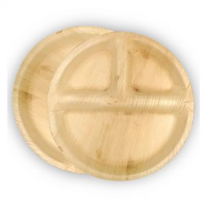 Dtocs Round Compartment Plate