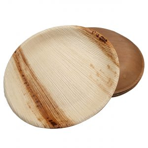 Dtocs Palm Leaf Dinner Plates - 10 Inch