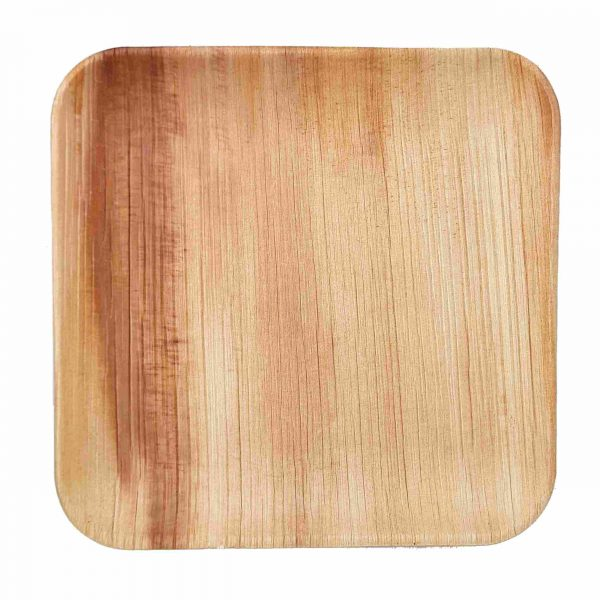 Dtocs Bamboo Look Palm Leaf Square Dinner Plates