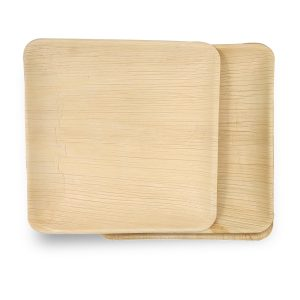 Dtocs Square Palm Leaf Plate
