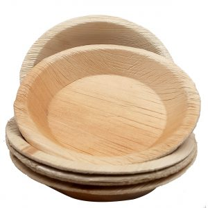"Dtocs Palm Leaf round Plate - 6"" shallow"