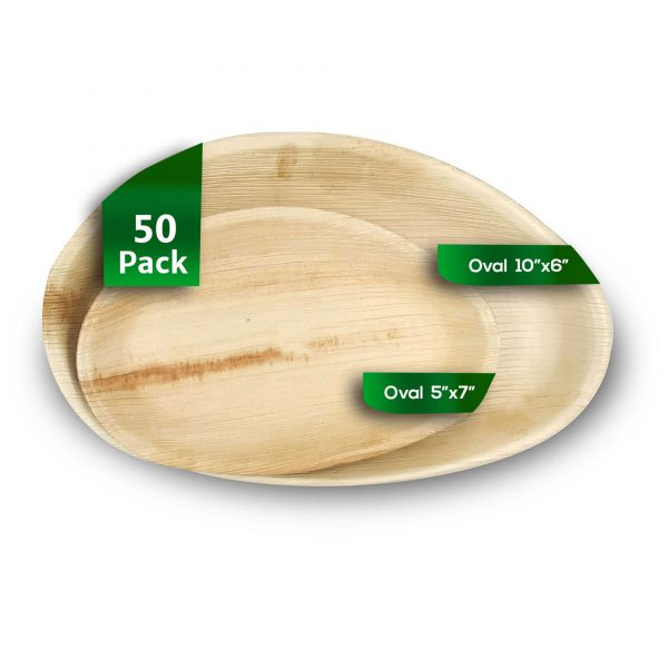 Dtocs Palm Leaf Plate Combo Set