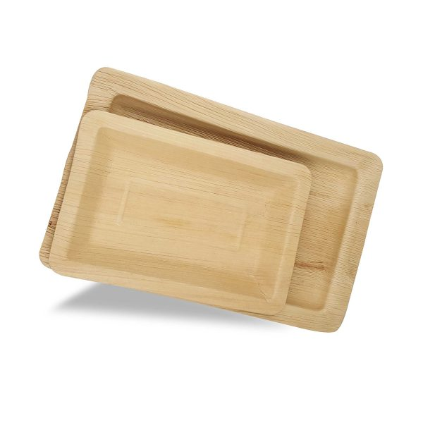 Dtocs Palm Leaf Plates - Rectangular Combo Set (50)