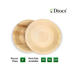 Dtocs Palm Leaf Plate Round
