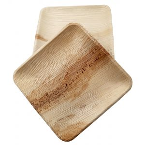 Dtocs Palm Leaf Square Dessert/Cheese board plate