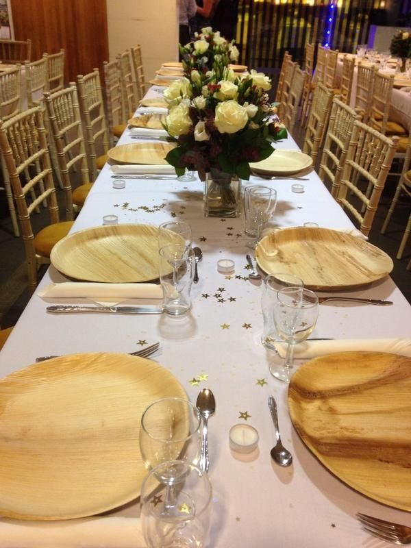 Table Setting With Round Plates